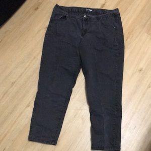 Plus size black jeans size 22 by Lane Bryant.